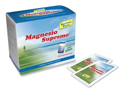magnesio supremo integratore di magnesio e calcio point foodly