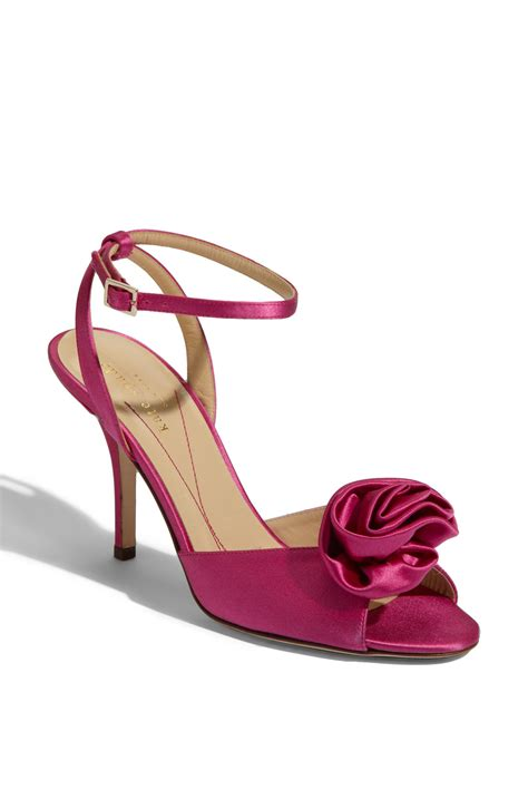 kate spade pink sandals kate spade satin sandals in pink fuschia lyst