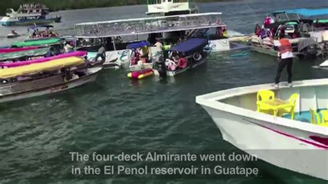 tourist boat sinks in colombia youtube six dead 31 missing after colombia tourist boat sinks