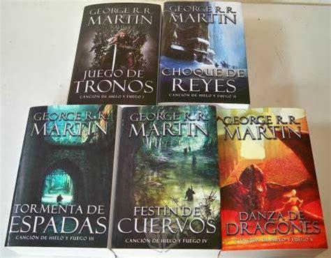 libros juego de tronos en espaol game of thrones set de 5 1700 el blog de alma canci 243 n de hielo y fuego la saga