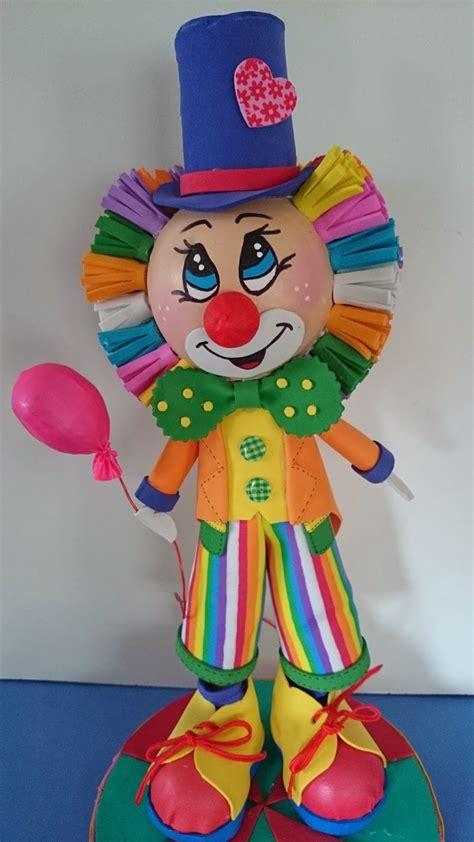 goma eva decoracion infantil fofuchas lourdesfantasy payaso 1 fofuchos clown party