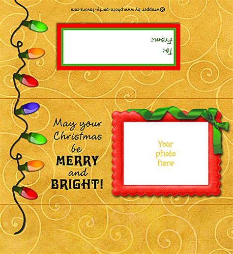 christmas lights free printable candy bar wrapper with