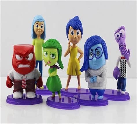 Inside Out Figurines With Base 6 Pcs Set inside out pvc figure toys toys dolls gifts for children 6pcs set l44 in