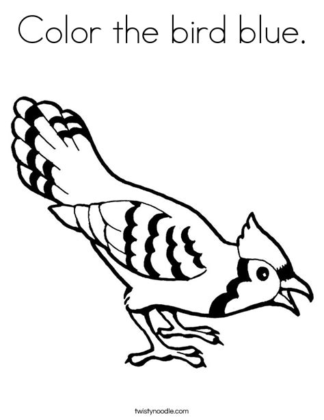 Color The Bird Blue Coloring Page Twisty Noodle Blue Coloring Page