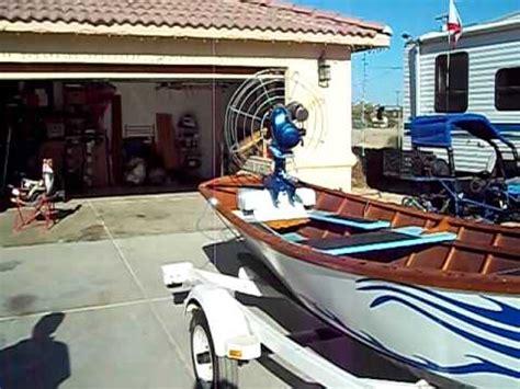 fan boat motor california sw boat with 1952 dragonfly outboard fan