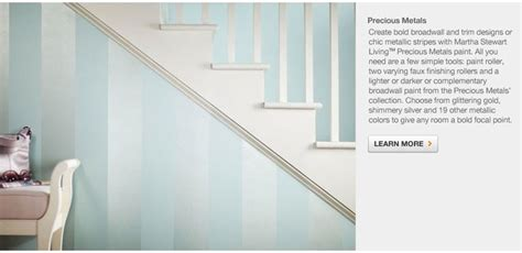 metallic stripes martha stewart precious metals paint coupled with a complimentary color