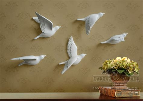 English Style Home Decor popular ceramic wall birds buy cheap ceramic wall birds