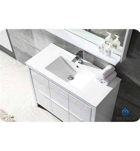 bathroom vanity 40 allier 40 quot modern bathroom vanity glossy white finish p trap faucet pop up drain
