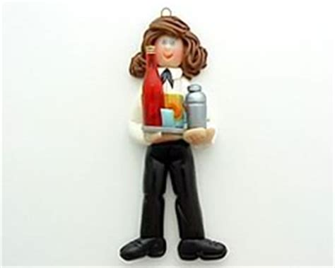 personalized bartender ornament ornament helzer s