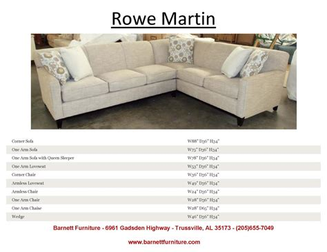 Rowe Martin Sectional Rowe Martin Sofa