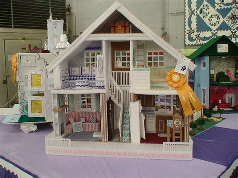 plastic canvas doll house plastic canvas doll house craft ideas pinterest