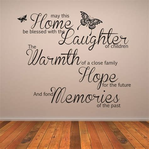 wall stickers family quotes may this home be blessed wall quote wall sticker