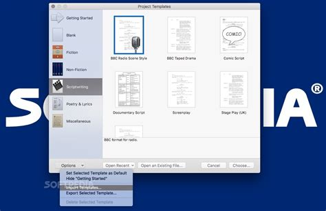 scrivener project templates scrivener mac 3 0 2