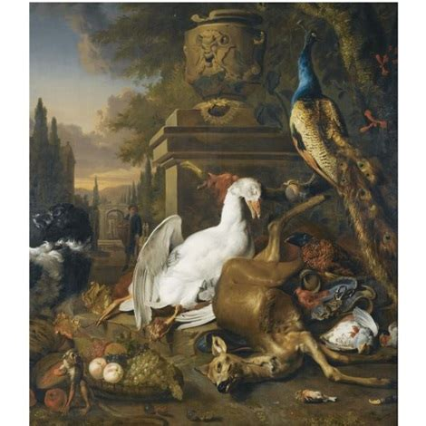 still life with duck home office a still life with a peacock swan deer dog monkey a