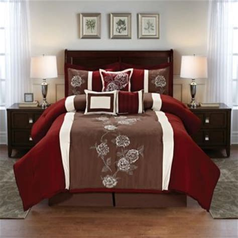 Beautiful Duvet Sets Buy Burgundy King Comforter Sets From Bed Bath Amp Beyond