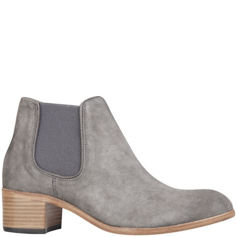 grey chelsea boots womens h shoes by hudson s bronte suede heeled chelsea