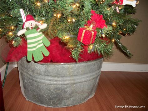 pictures of christmas trees in a wash tub tree placed in a wash tub so doing this decorating wash