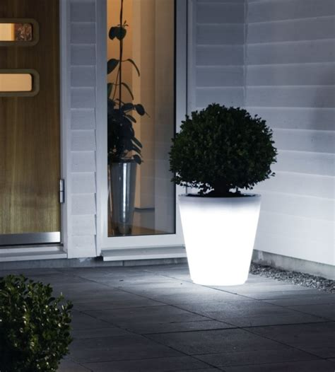 illuminated planter pot large h 400mm