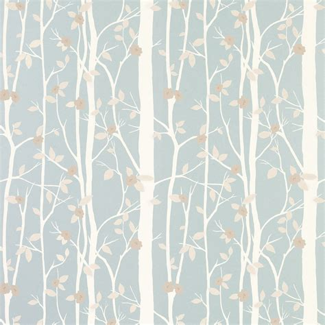 blue patterned wallpaper uk cottonwood duck egg leaf wallpaper laura ashley like