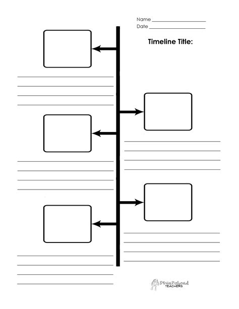 timeline template with pictures timeline boxes and lines
