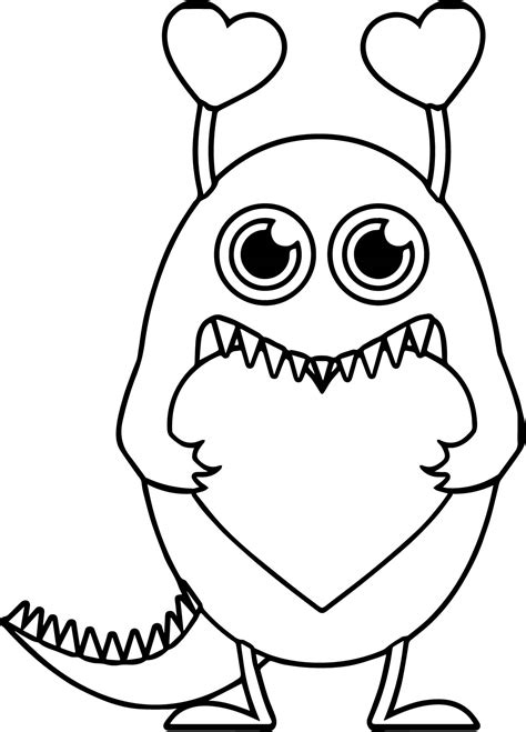 monster high valentines day coloring pages monster valentine heart free coloring page wecoloringpage