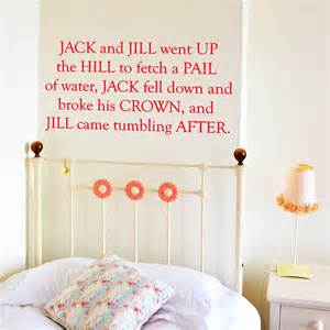Nursery Rhyme Wall Stickers nursery rhyme wall stickers by leonora hammond notonthehighstreet