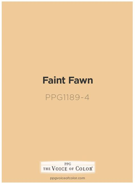color fawn golden paint color by ppg voice of color faint fawn