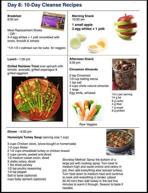 24 Day Detox Diet by Day 8 10 Day Cleanse Recipes Advocare