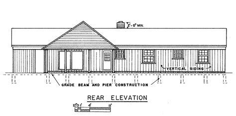 house plans with view in back free 3 bedroom ranch house plans with carport