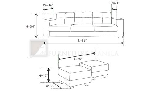 Average Length Of A Sofa | average sofa length standard furniture dimensions metric