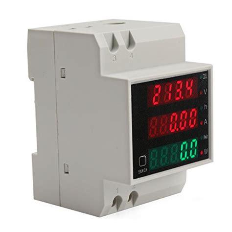 Ac Multifunction Voltmeter Meter Energy Power Monitor Ac 80 260 100a drok din rail digital multimeter ac voltmeter ammeter power energy kwh meter power factor