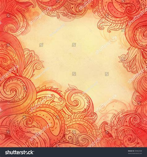 frame patterned wallpaper paisley watercolor patterned frame trendy modern