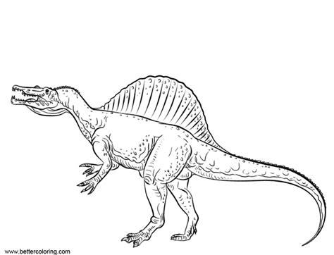 Dinosaur Coloring Pages Spinosaurus