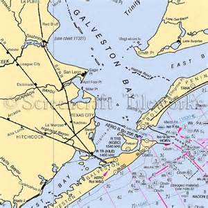 Coastal Shower Curtains Texas Galveston Bay Texas City Nautical Chart Decor