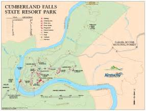 Kentucky State Parks Map by Cumberland Falls State Resort Park Map 7351 Highway 90