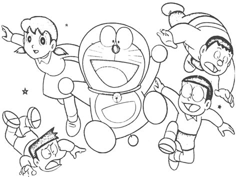pages of doraemon cheerful doraemon coloring book makes your toddlers