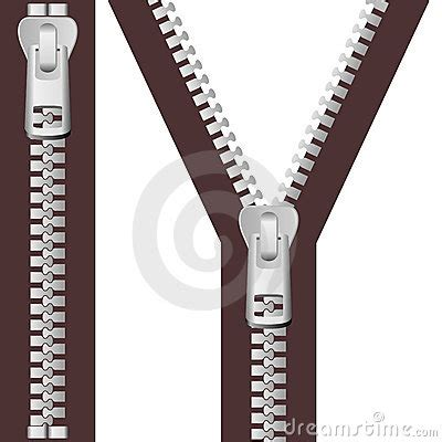 silver zipper set stock photography image: 22978052