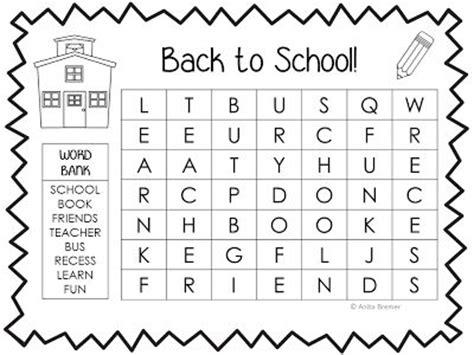 Find By School Free Back To School Word Search By Bremer Kindergarten Kolleagues