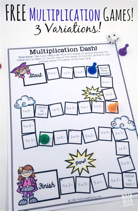 printable multiplication games ks2 easy low prep printable multiplication games free