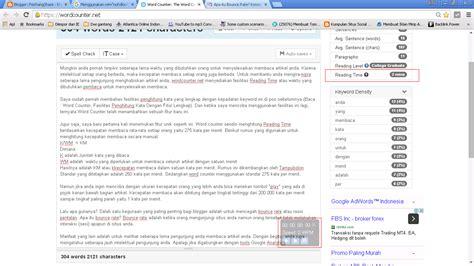 2 Menit Membaca Pikiran Orang M198 fitur baru word counter reading time feichangshare what you don t