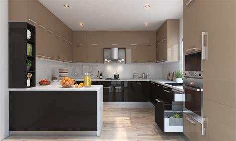 buy clover  shape kitchen   india livspacecom
