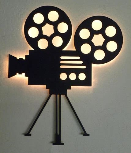 movie decor for the home authentic film reel movie camera wall decor home theater