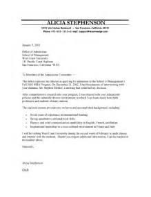 mba program cover letter