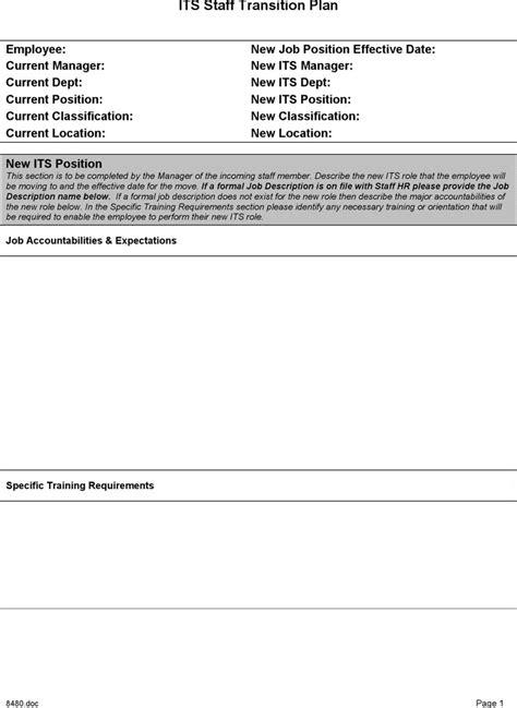 transition plan template download free premium