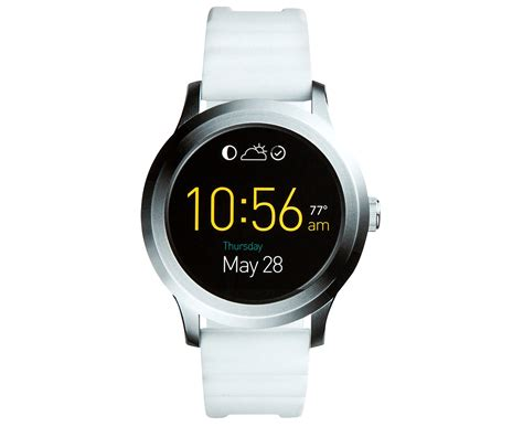Fossil Smart Fs0100 White Silver fossil unisex q wander 2 ftw2115 smartwatch silver white ebay