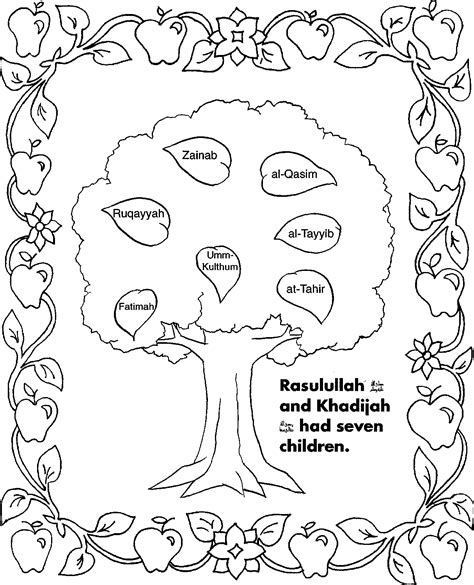 pillars  islam coloring page coloring pages