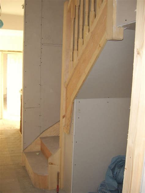 loft staircase installed   existing landing