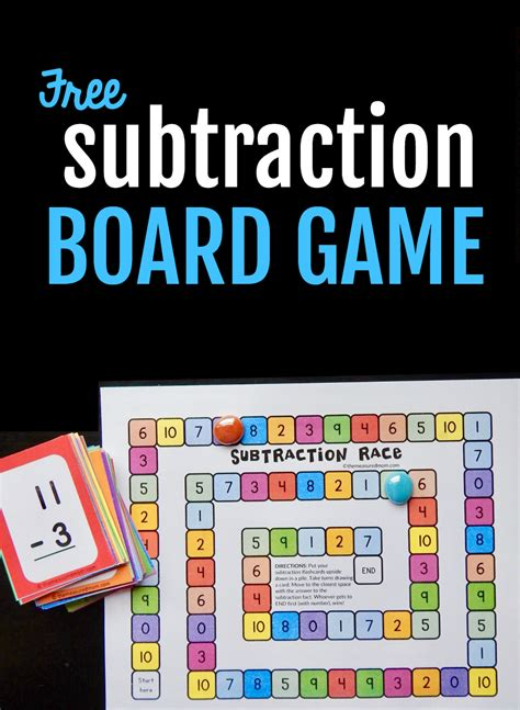 subtraction printable board games use flash cards to play this free subtraction game the