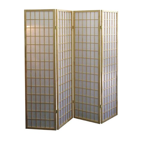 room dividers ore international basic 4 panel room divider by oj