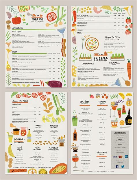 canteen card templates 54 best menu images on menu menu